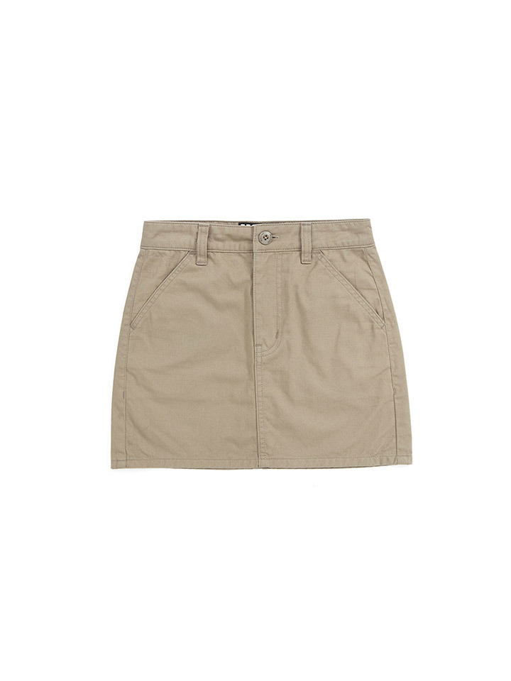 CHINO MINI SKIRT_beige