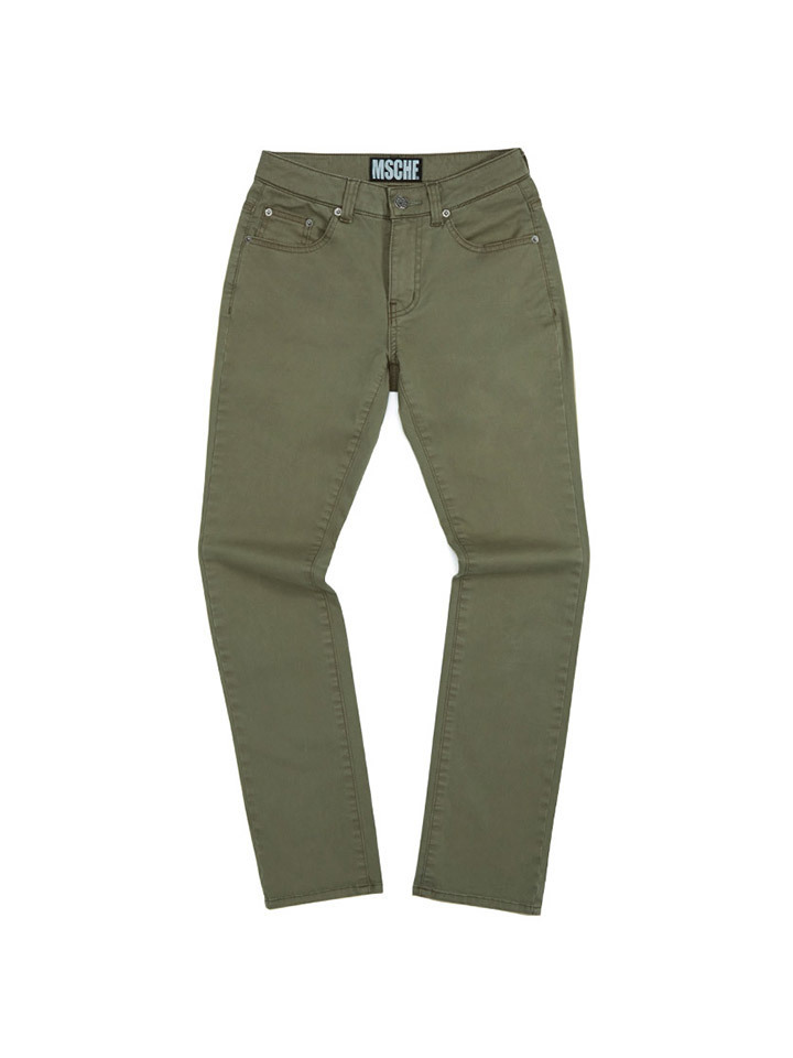 HIGH WAISTED BOOT CUT PANTS_khaki