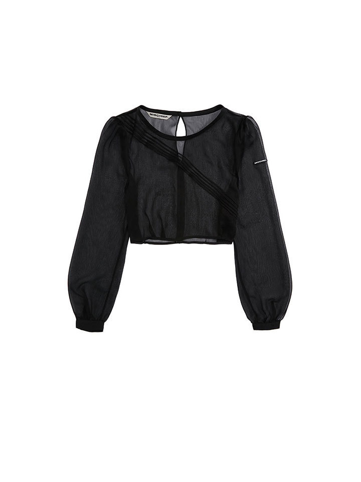 SHEER CHIFFON TOP_black