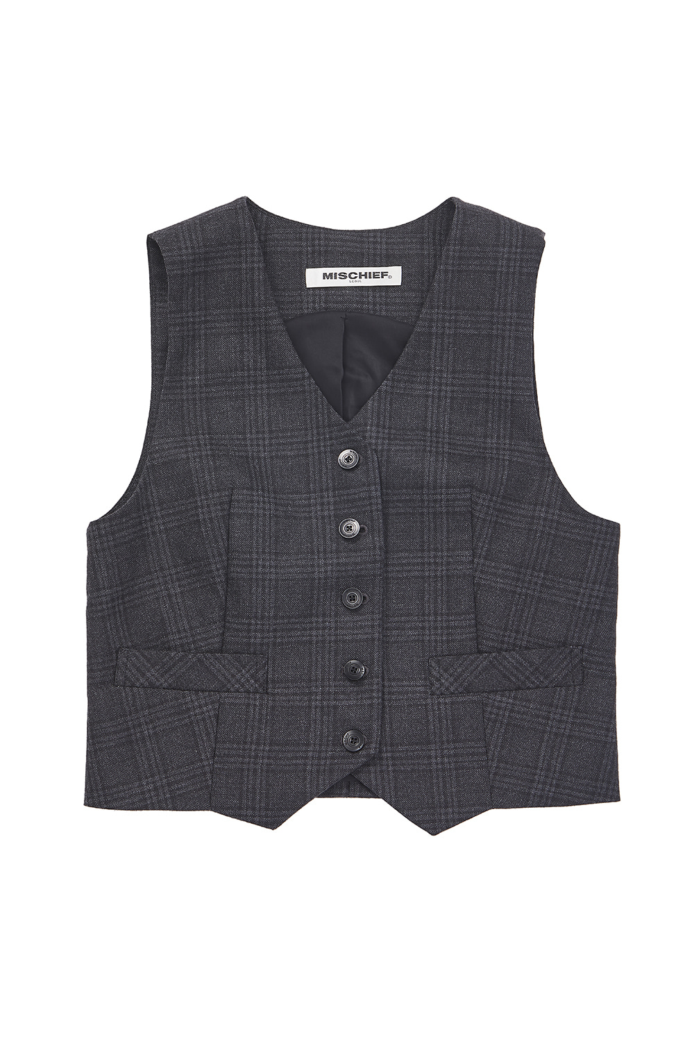 ZOOTIES VEST_tartan black/gray