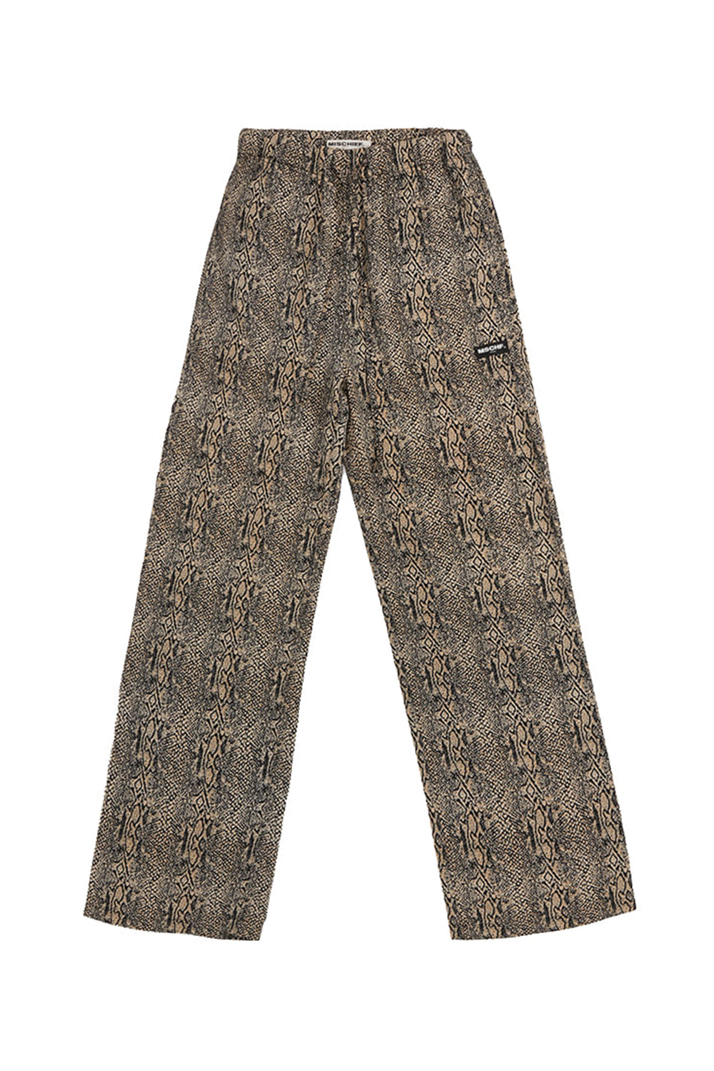 DRAWSTRING TROUSERS_black/yellow python