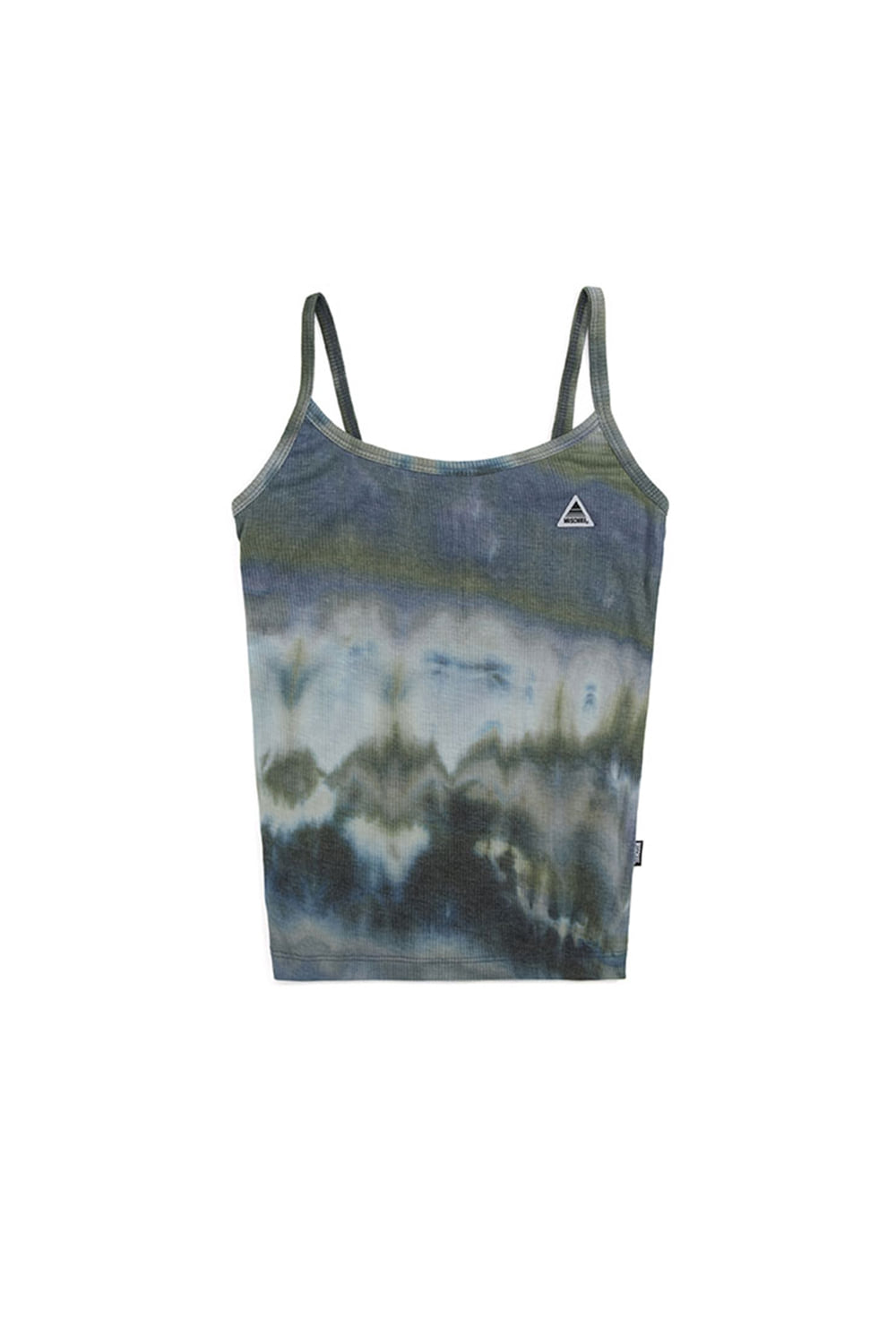 TIE-DYED CAMISOLE_olive/blue