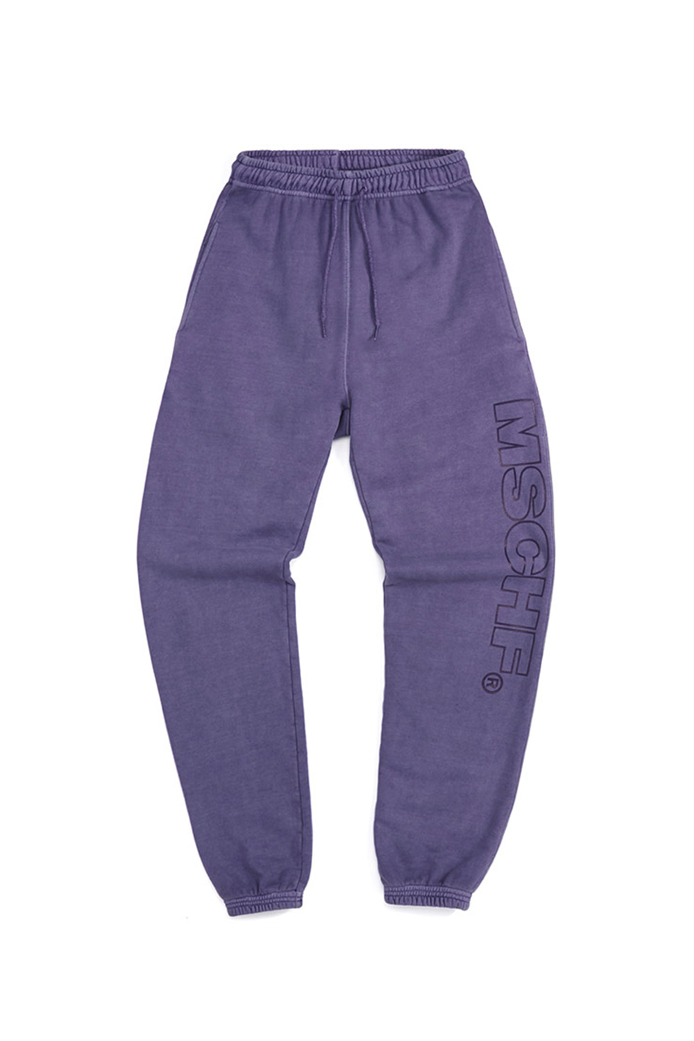 GARMENT DYED TRAINING PANTS_purple