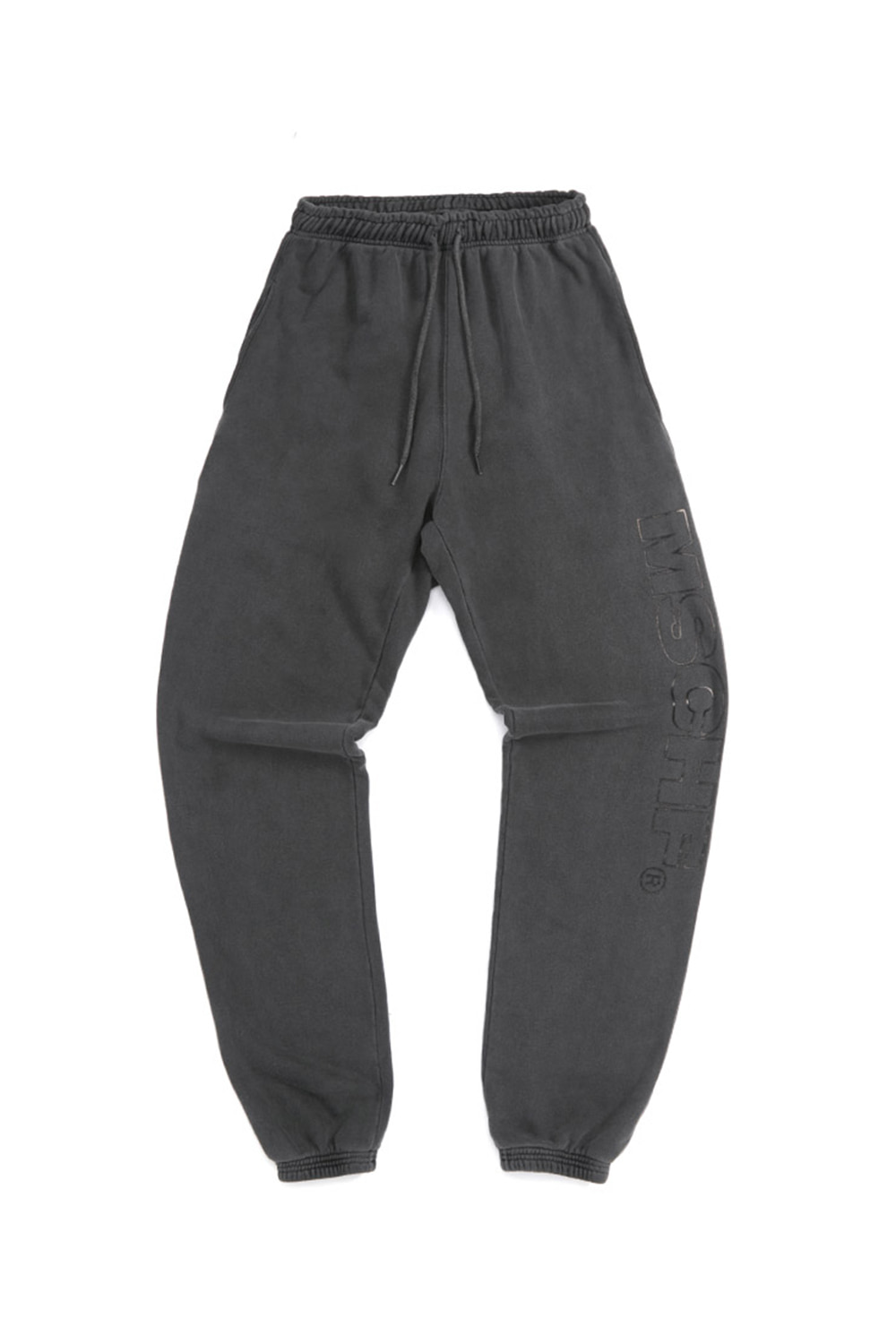 GARMENT DYED TRAINING PANTS_black