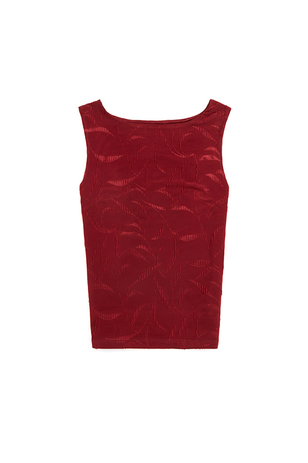 BOAT NECK SLEEVELESS TOP_red rose