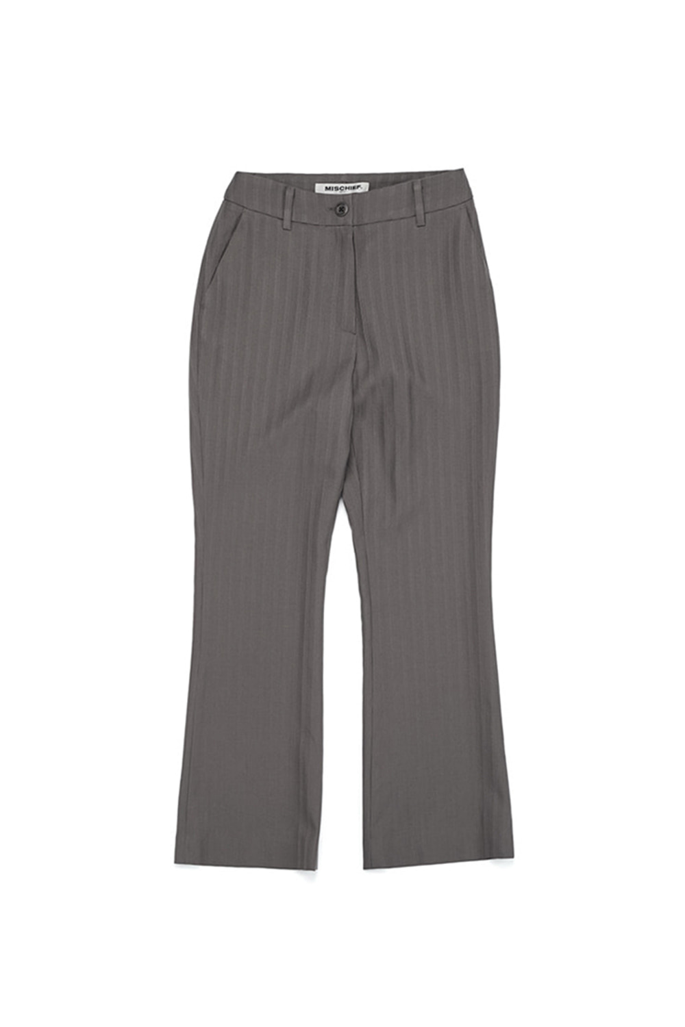 STRIPE SLACKS_khaki