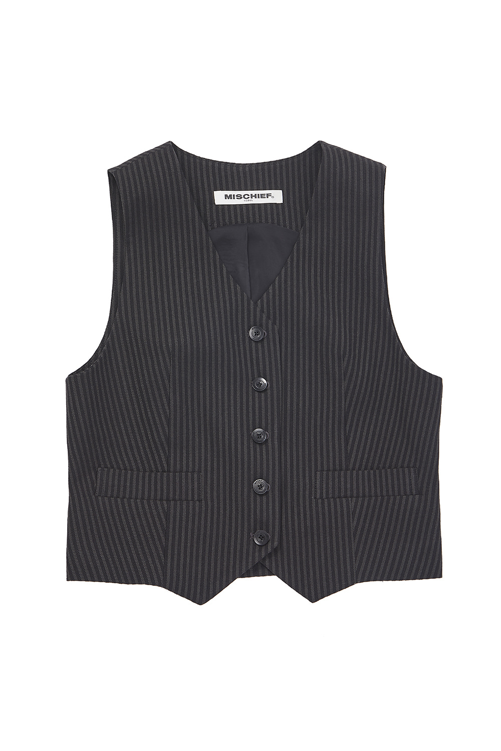 ZOOTIES VEST_stripe black/gray