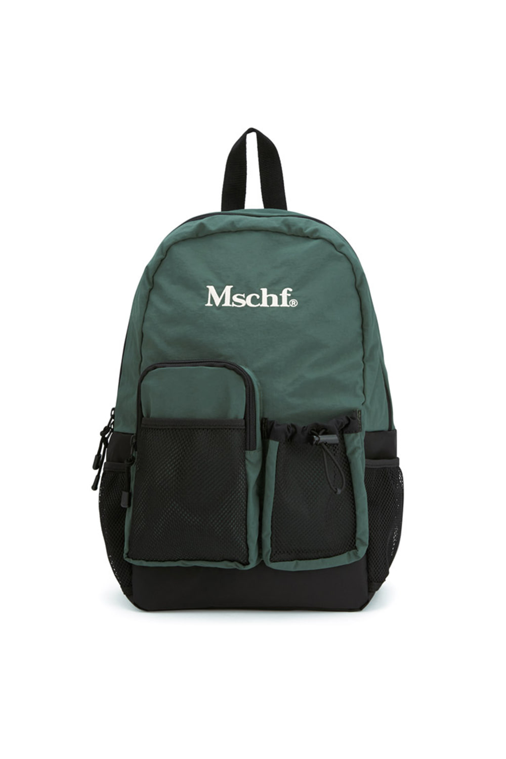MULTI-POCKET NYLON BACKPACK_hunter green