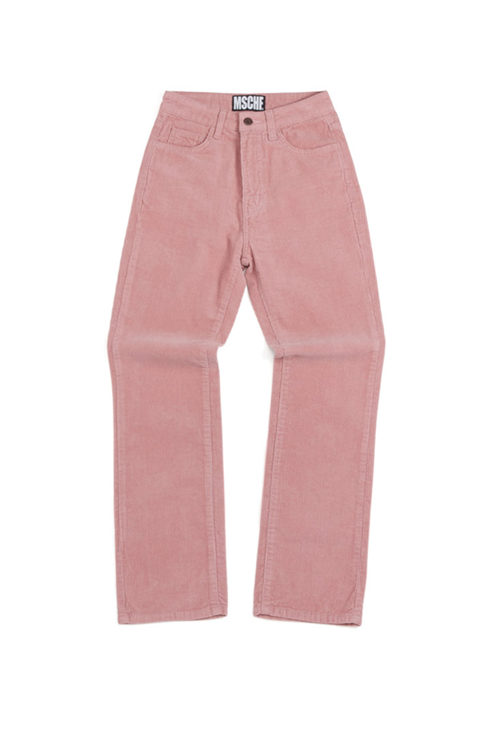 CORDUROY STRAIGHT PANTS_pink