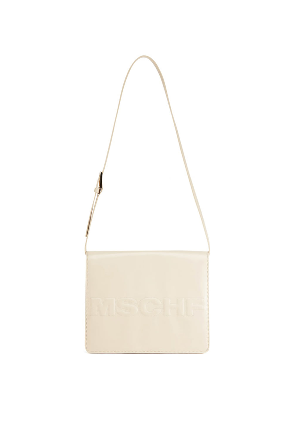 FOLD OVER SHOULDER BAG_ivory