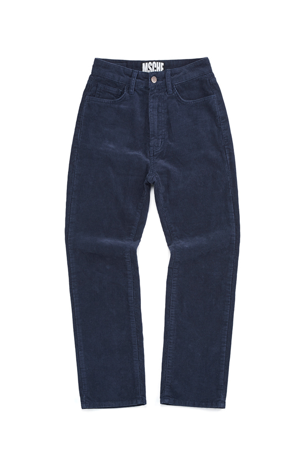 CORDUROY STRAIGHT PANTS_navy