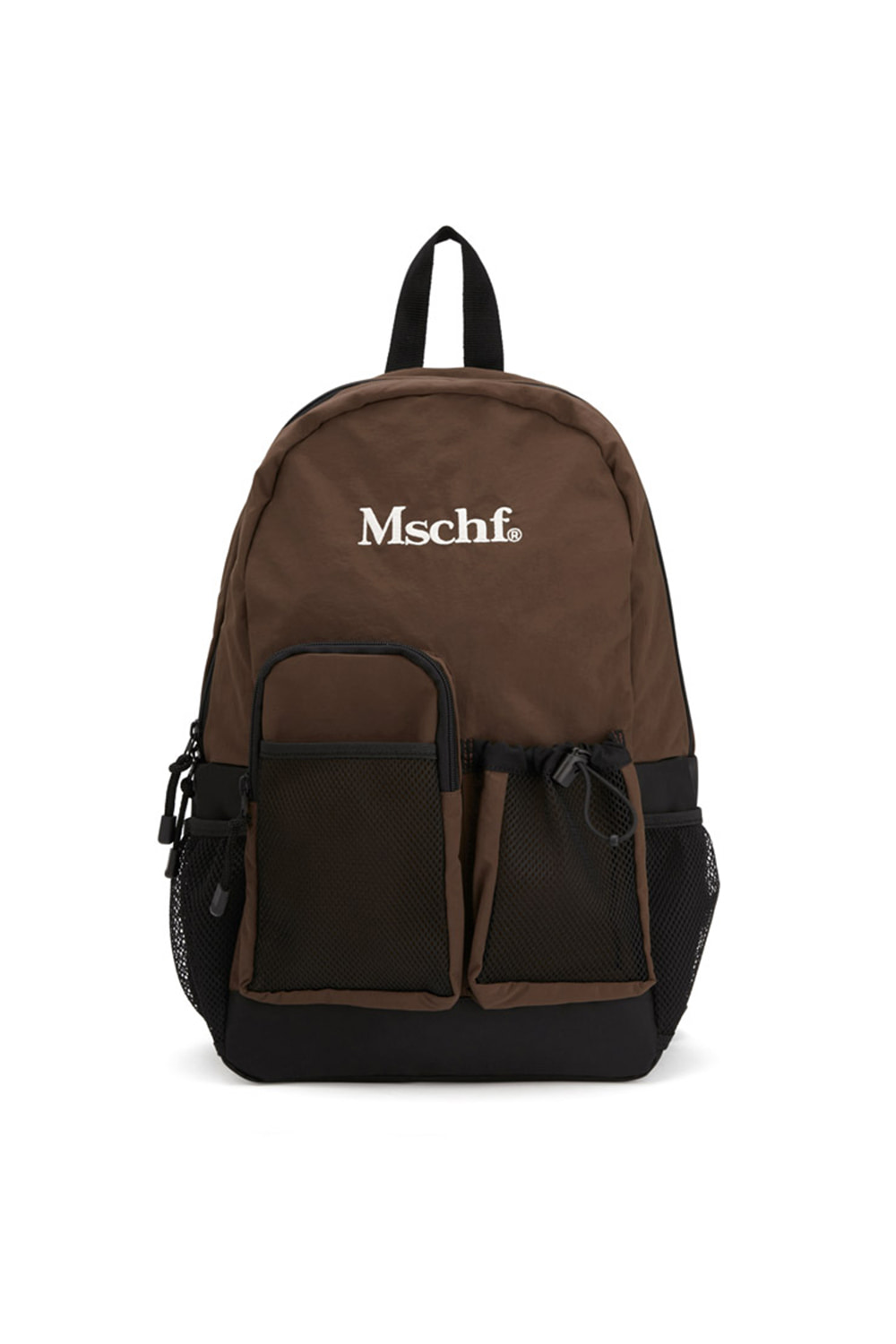 MULTI-POCKET NYLON BACKPACK_brown