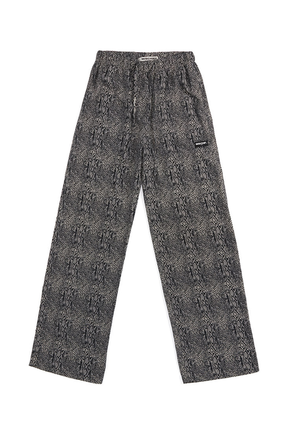 DRAWSTRING TROUSERS_black/white python