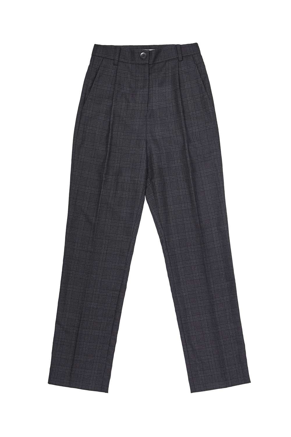 LONG SUIT PANTS_tartan black/gray