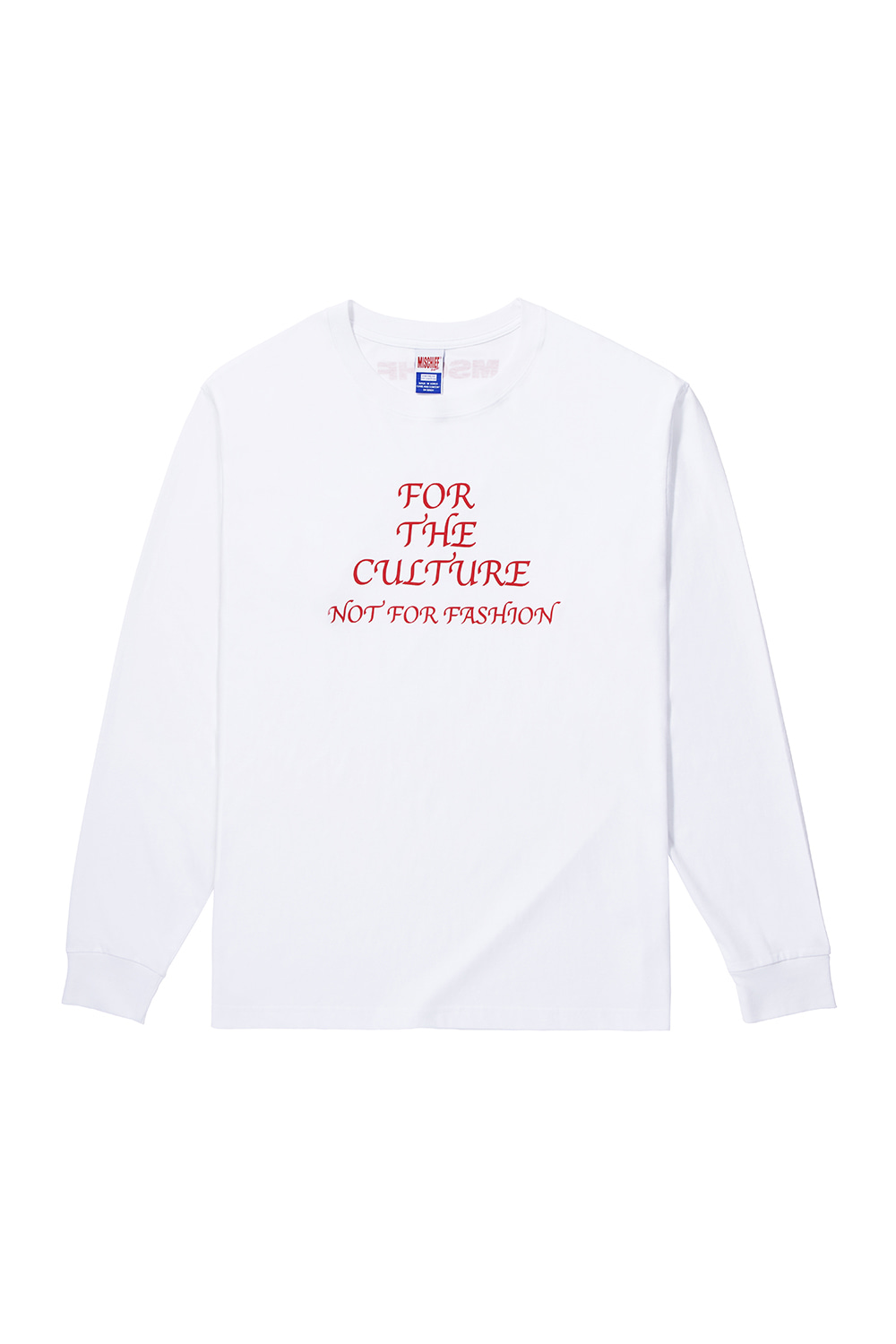 FOR THE CULTURE LONG SLEEVE_white