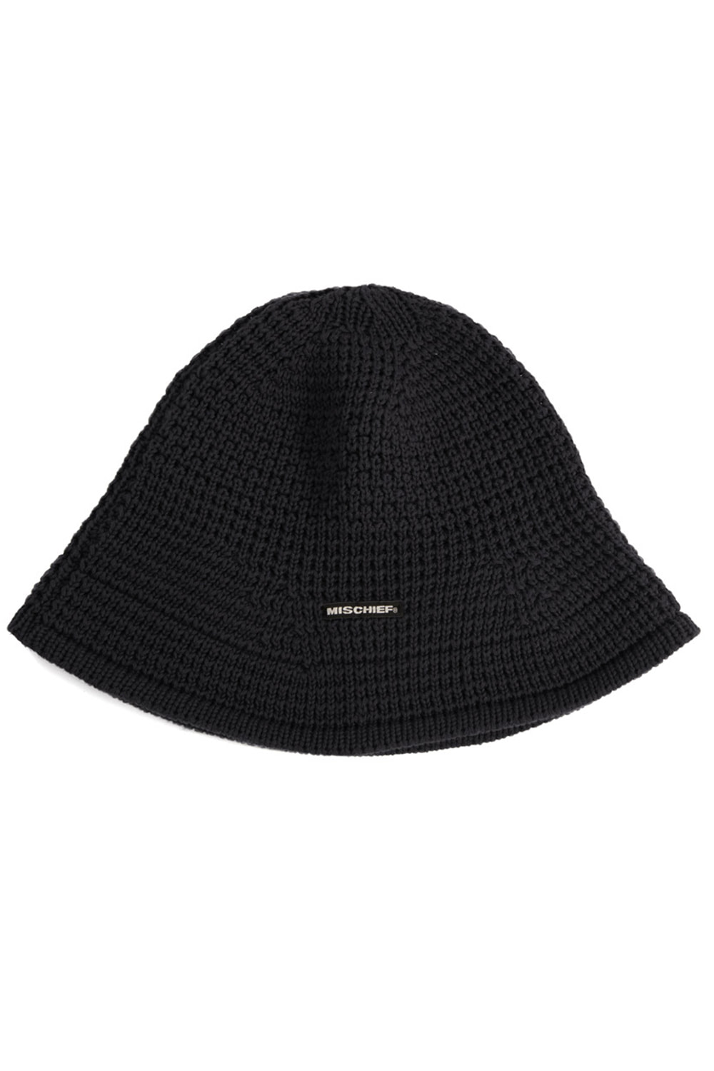 KNIT BUCKET HAT_black