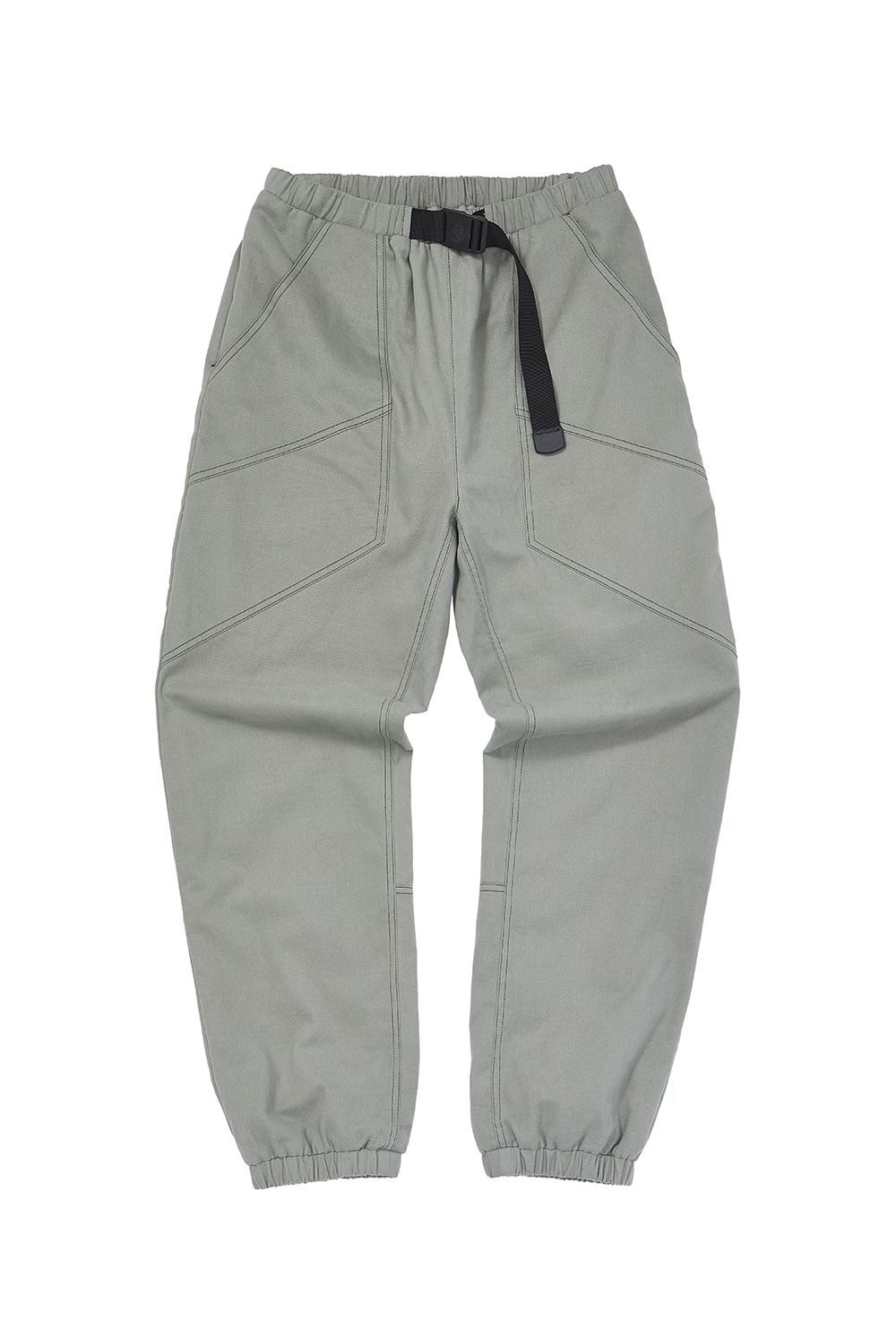 BELTED JOGGER_mint gray
