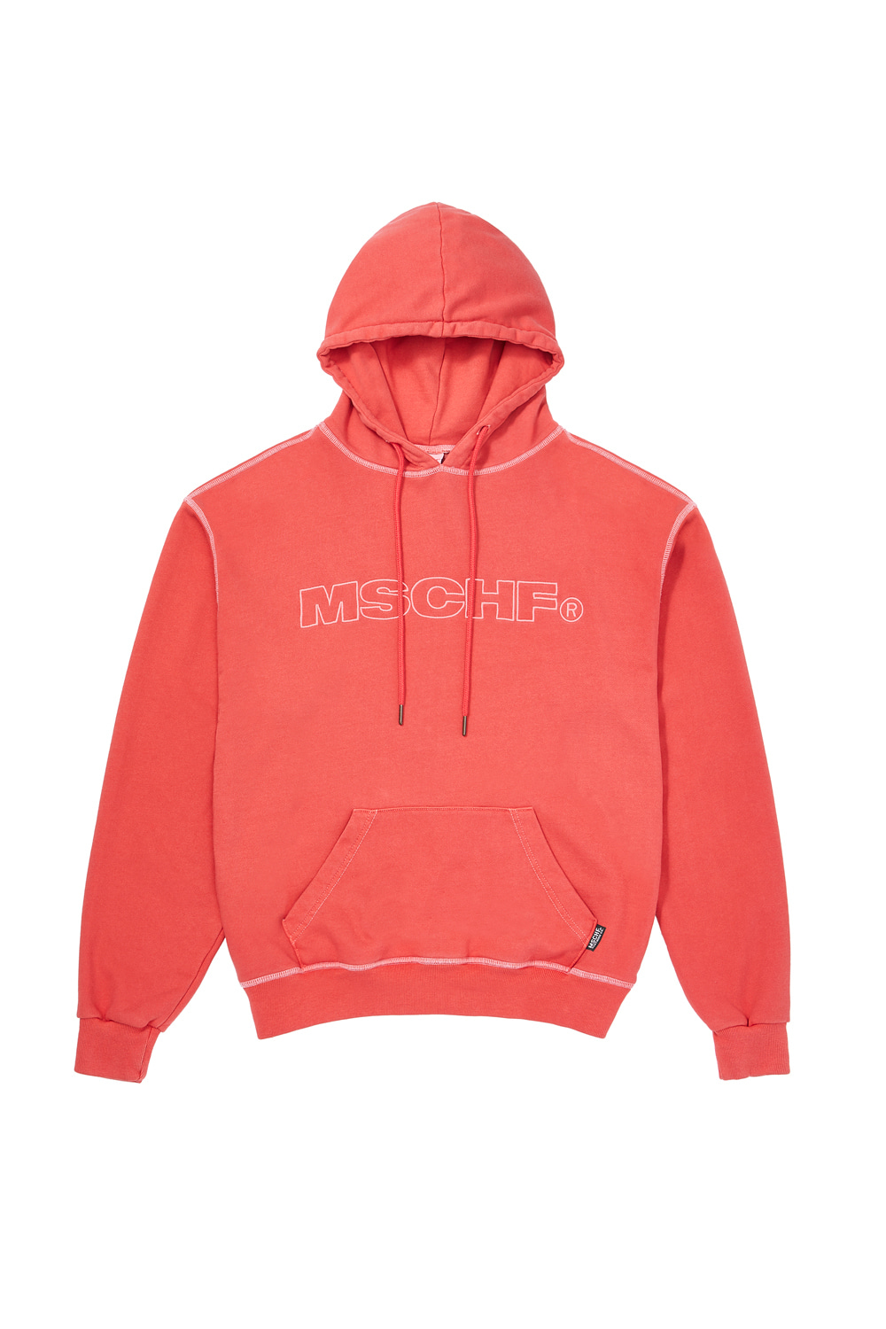 MSCHF_WASHED HOODIE_red orange