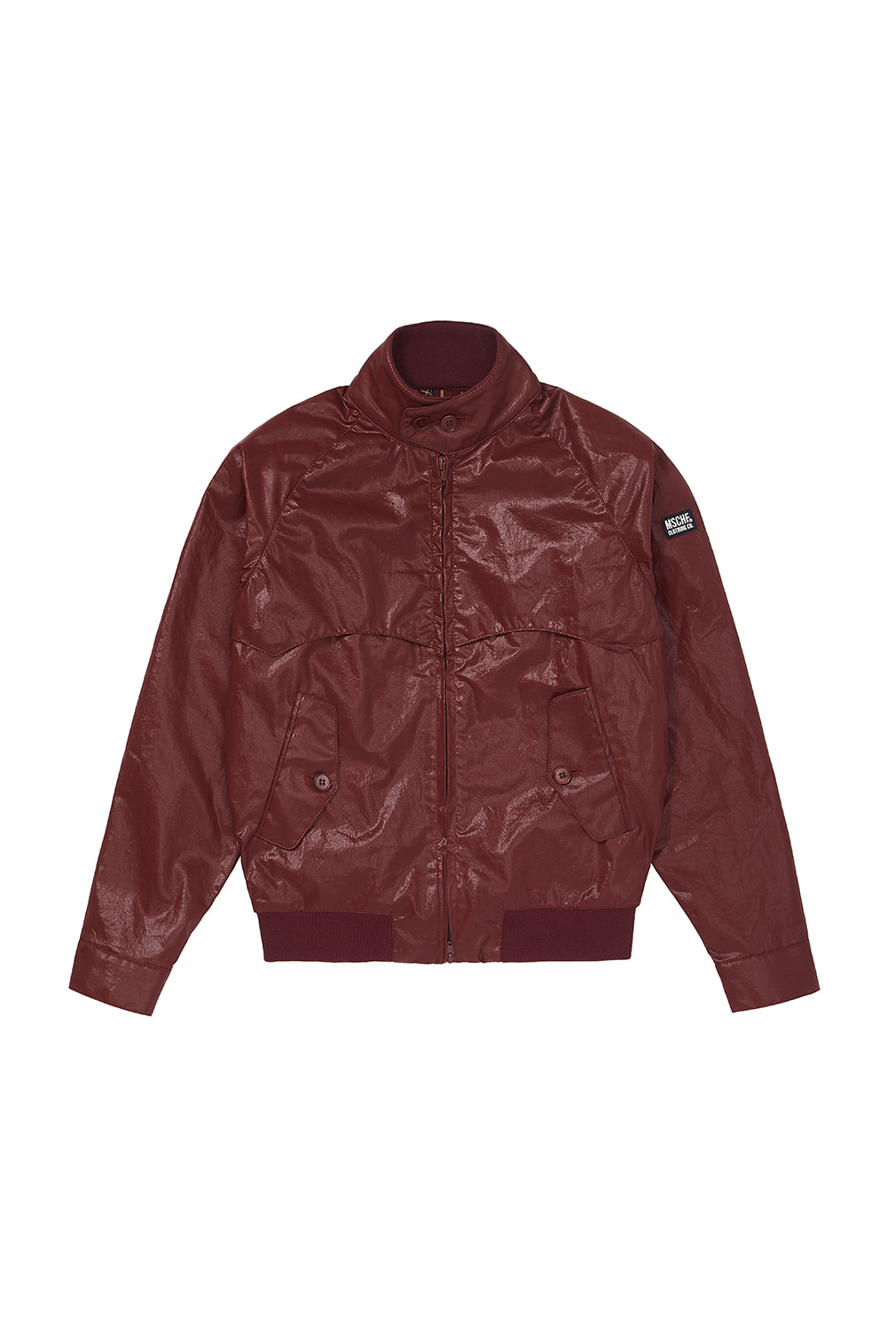 METALLIC COTTON SWING TOP JACKET_brick red