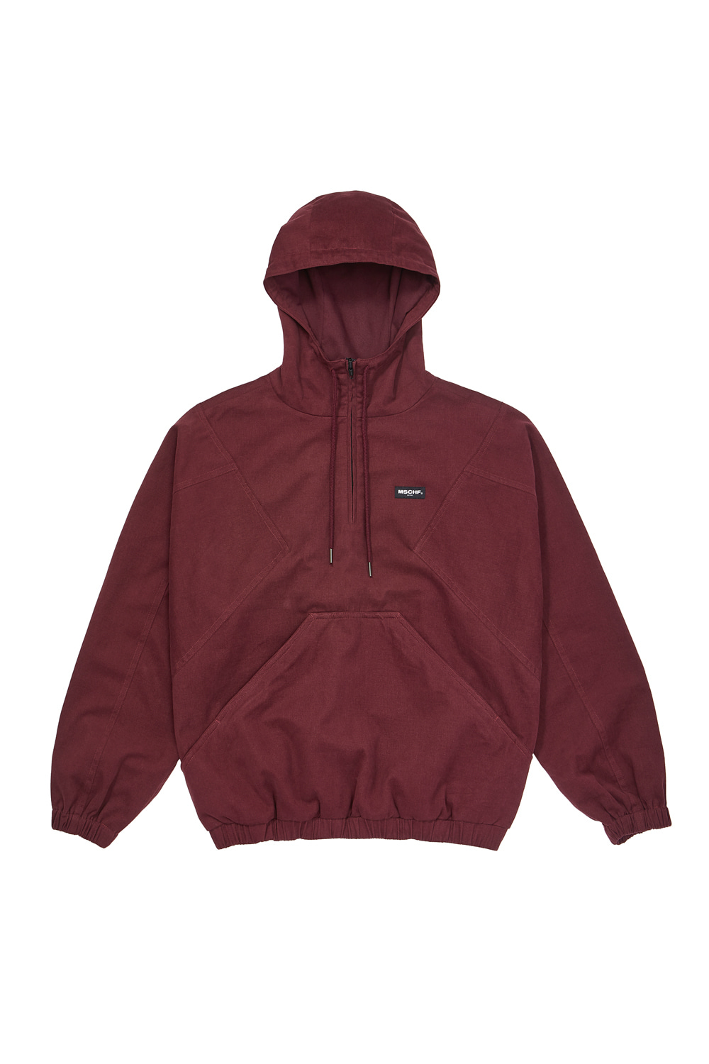 HOODED ANORAK PULLOVER_burgundy