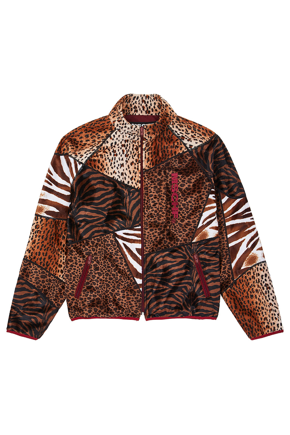 ANIMAL PATCHWORK ZIP UP_multi