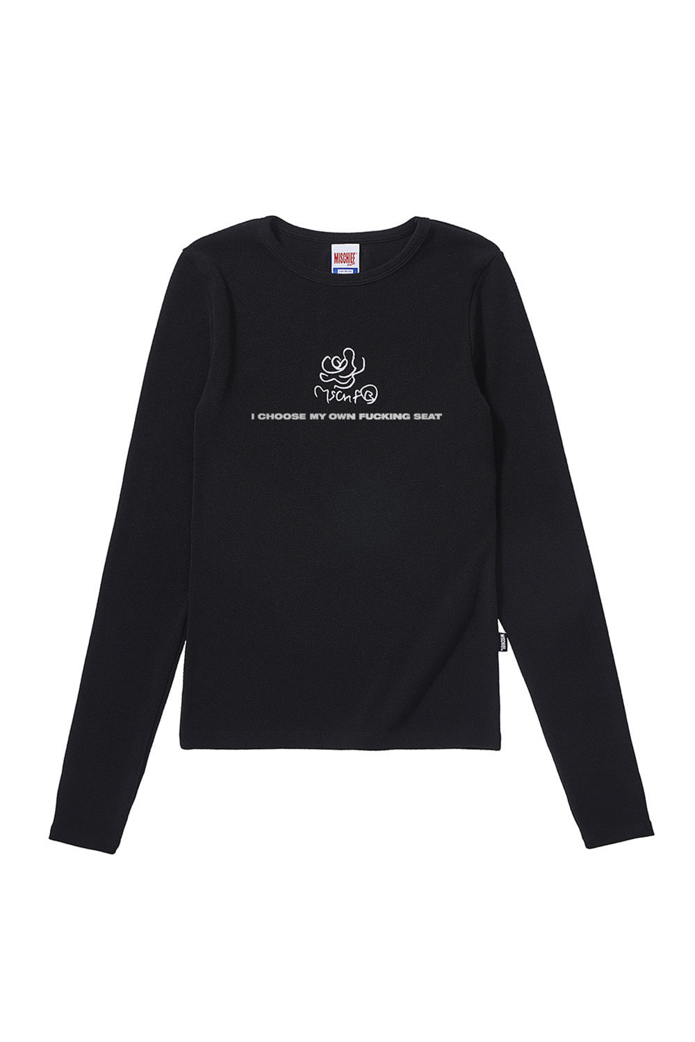 LIM KIM X MSCHF_FITTED ROSE LONG SLEEVE_black