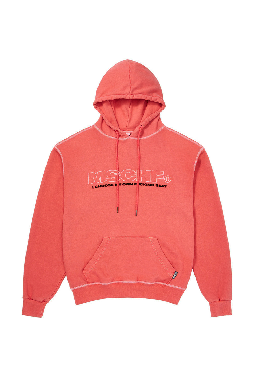 LIM KIM X MSCHF_WASHED HOODIE_red orange