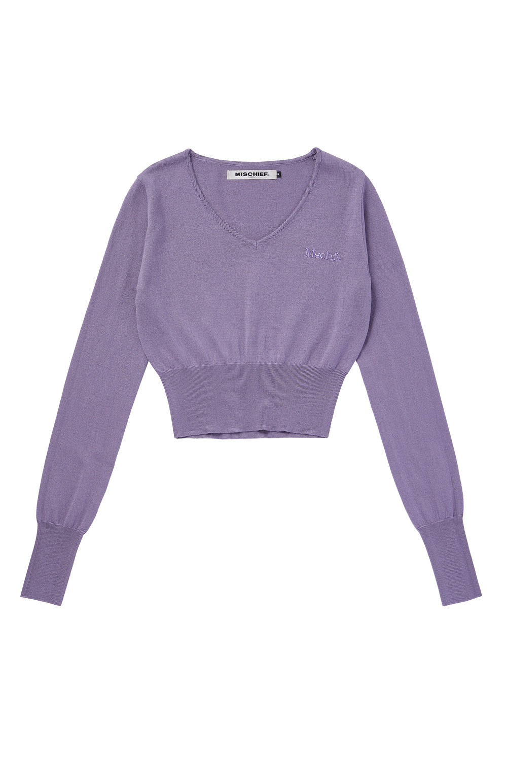 CROPPED KNIT_lilac