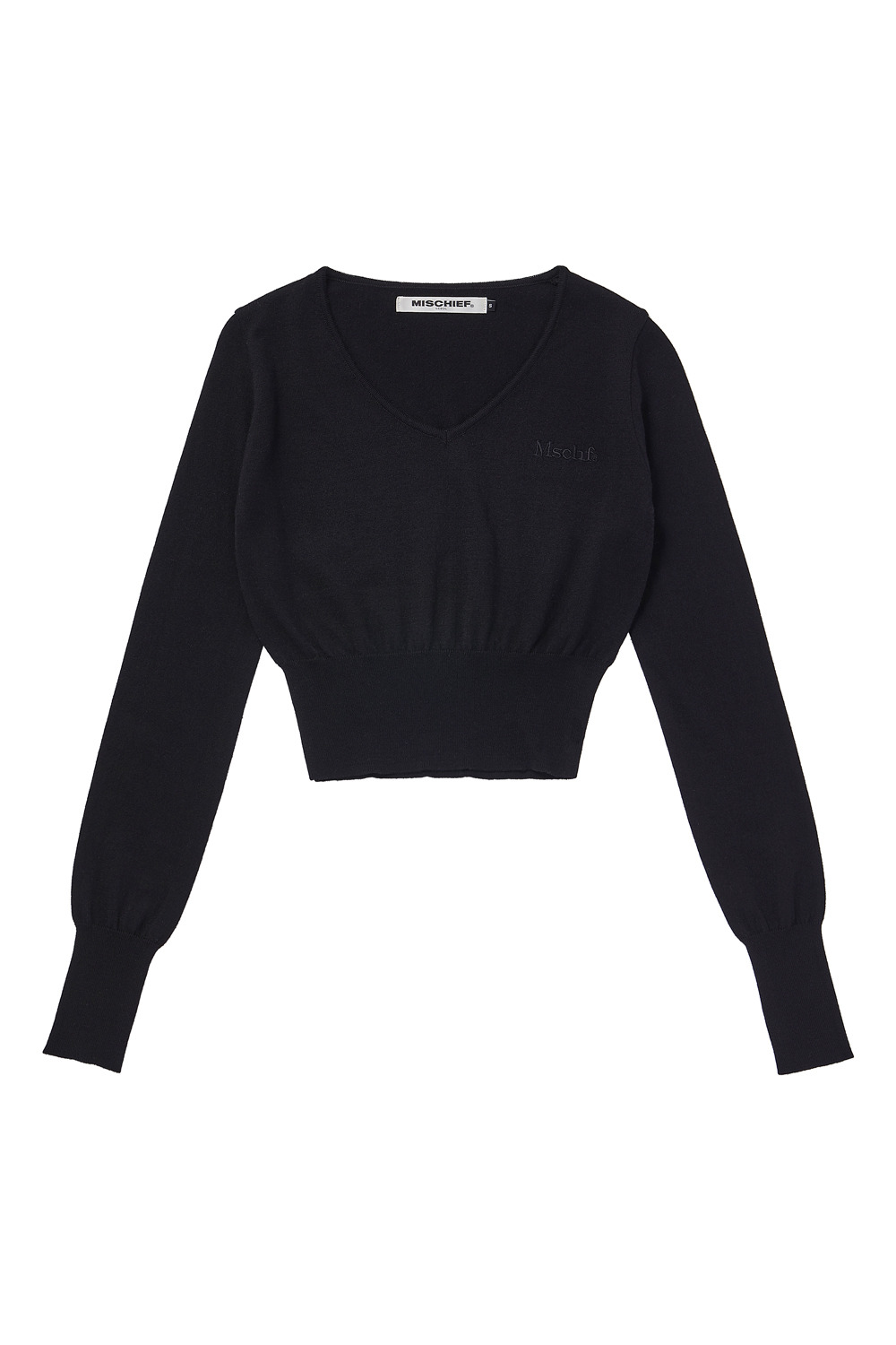 CROPPED KNIT_black