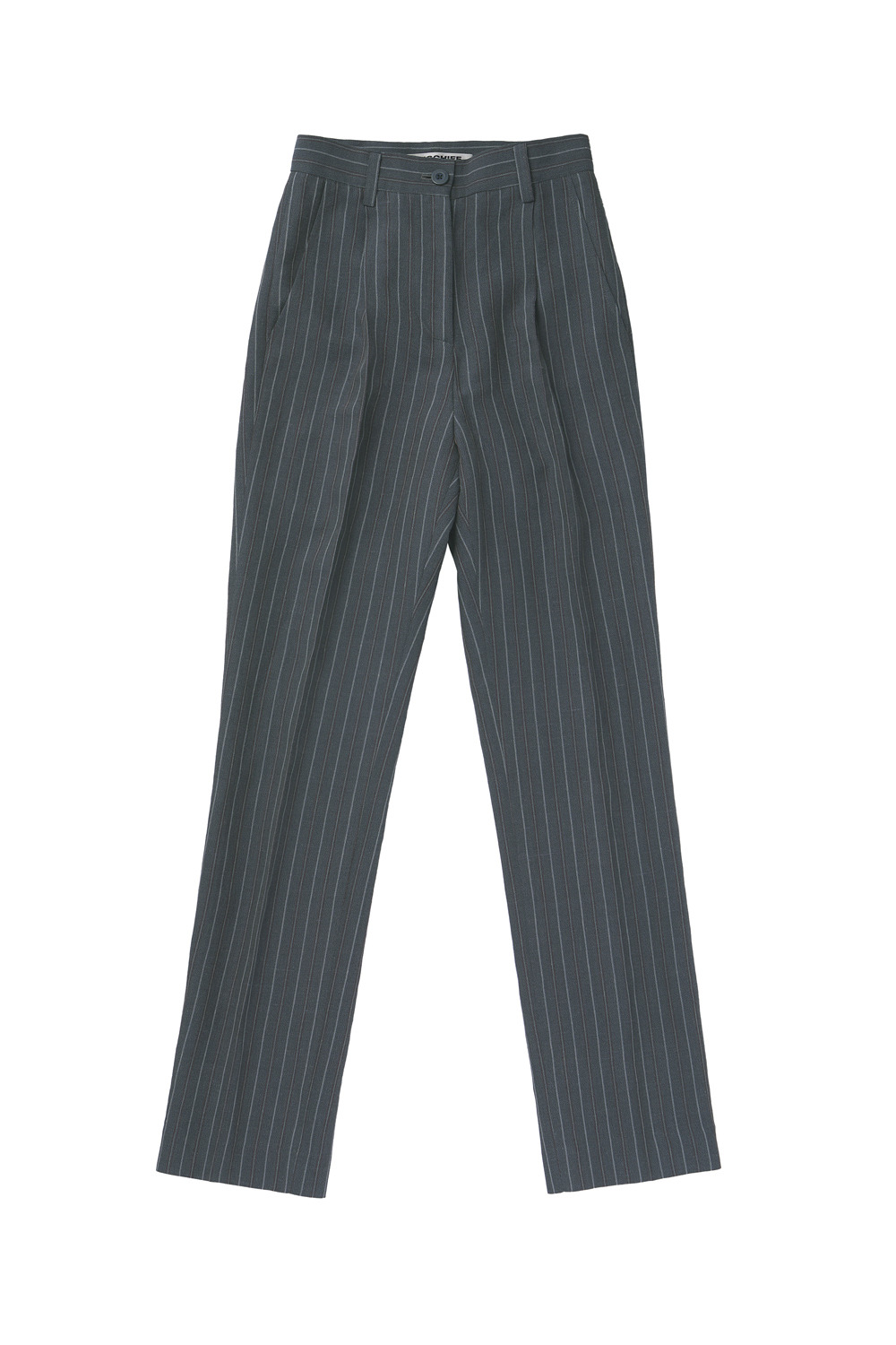 STRIPED LONG SUIT PANTS_gray