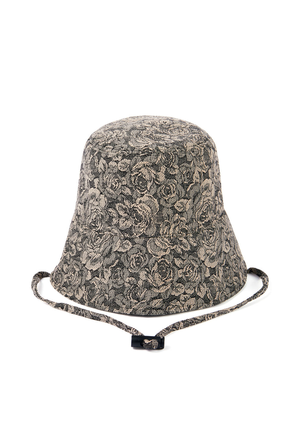 JACQUARD SLIT BUCKET HAT_beige rose