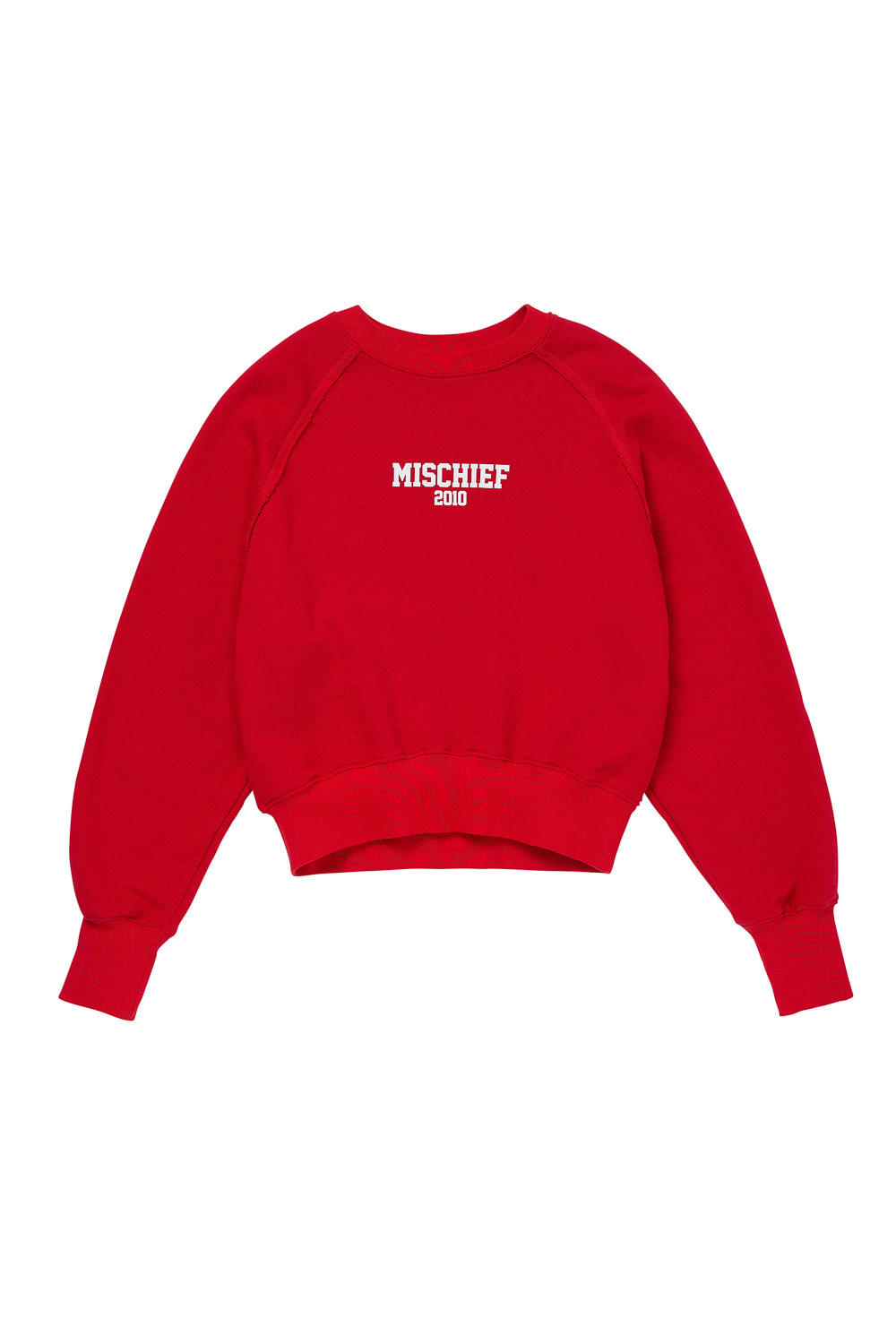 MSCHF 2010 CROPPED CREWNECK_red