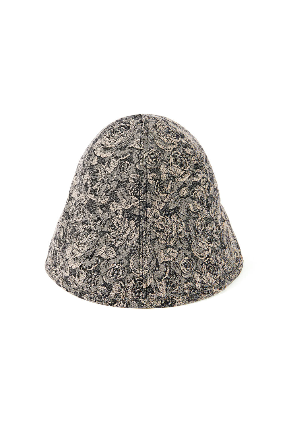JACQUARD SLIT CLOCHE HAT_beige rose