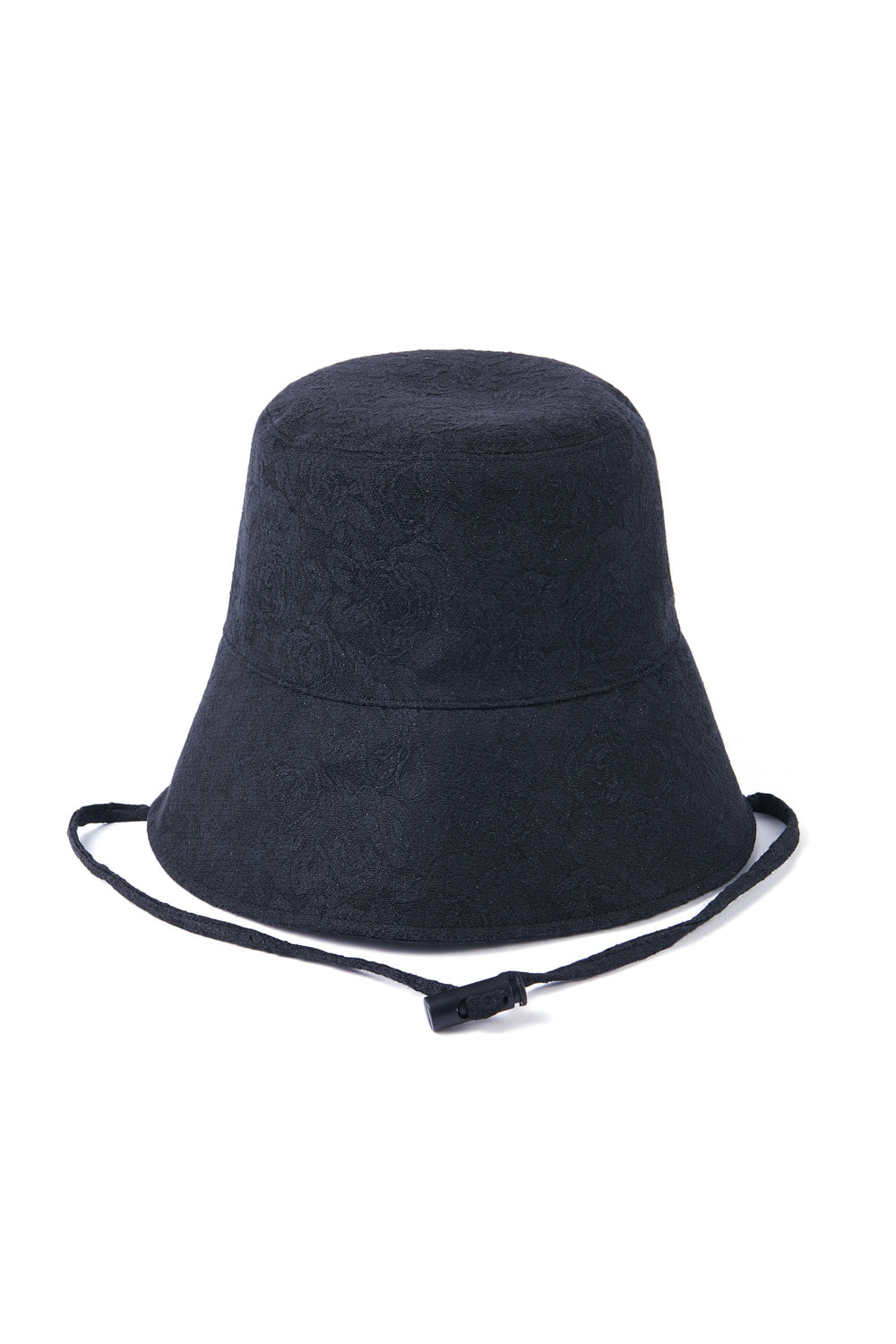 JACQUARD SLIT BUCKET HAT_black rose