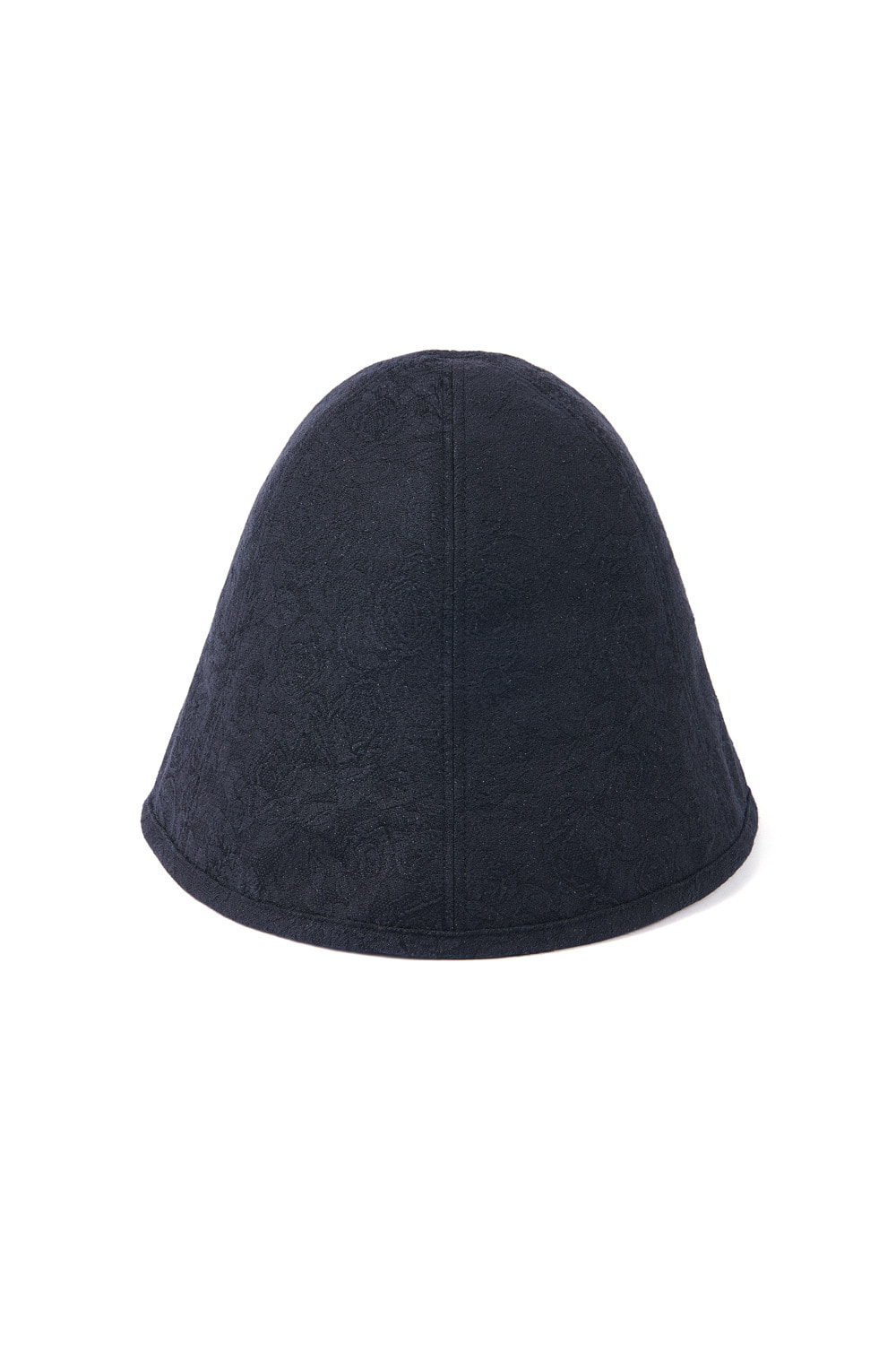 JACQUARD SLIT CLOCHE HAT_black rose