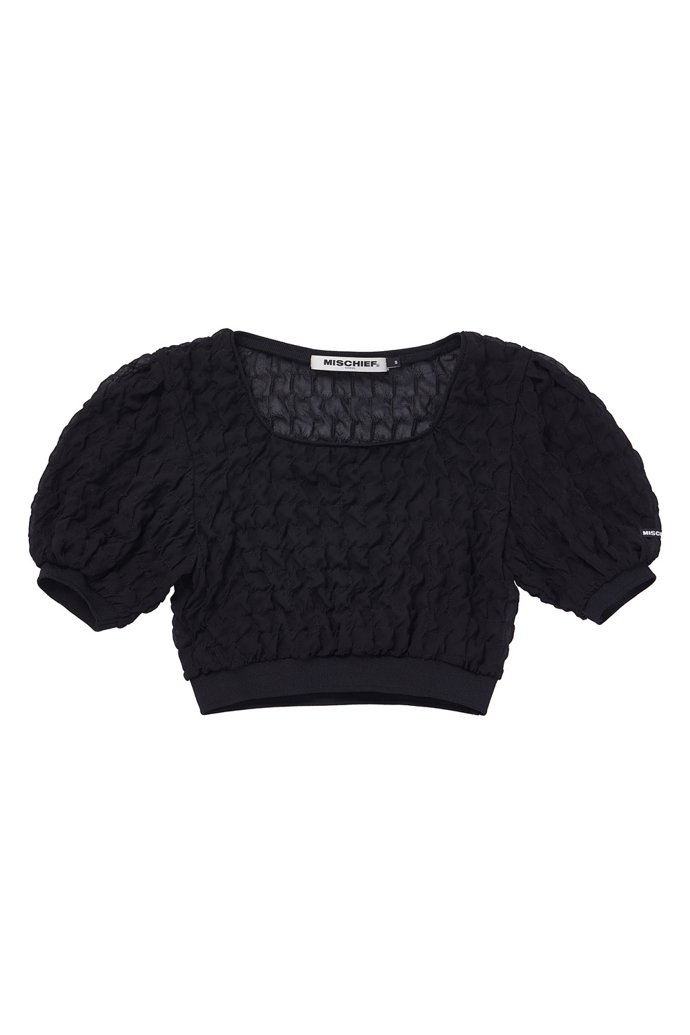 SQAURE NECK CHIFFON TOP_black