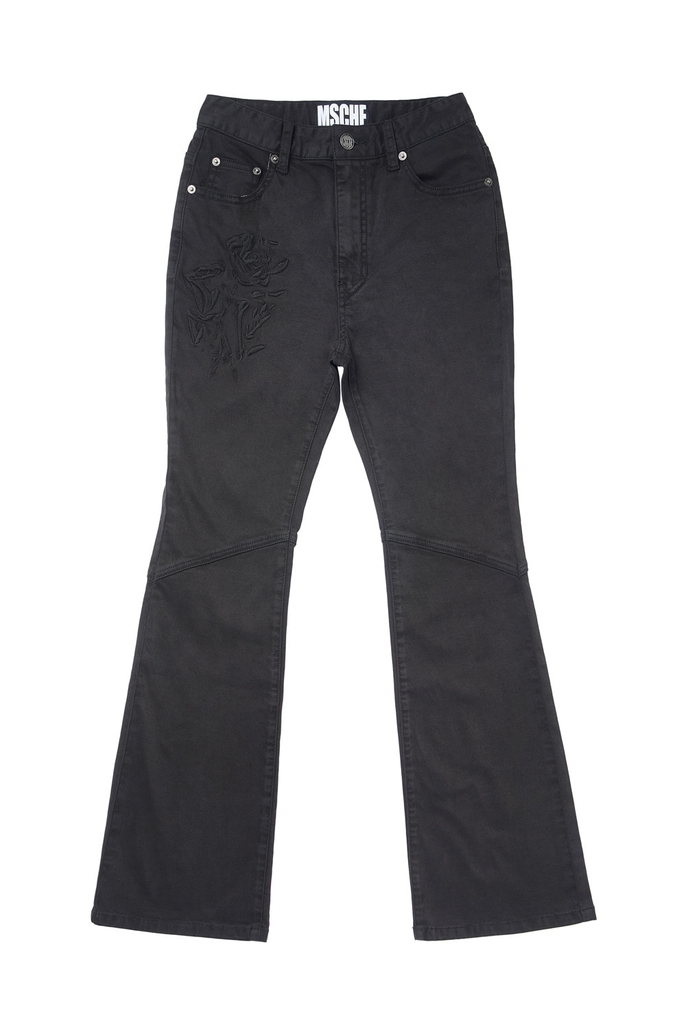 ROSE HIGH WAIST BOOTCUT PANTS_black