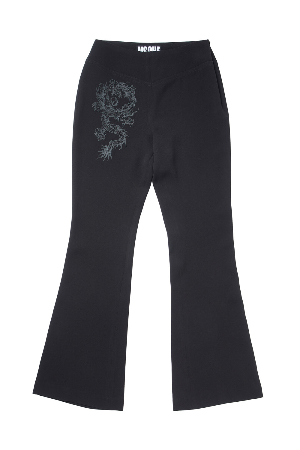 DRAGON BOOT CUT PANTS_black