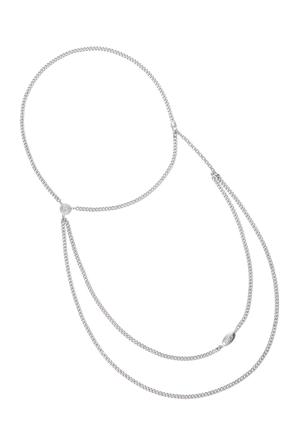 PENDANT SHOULDER CHAIN_silver