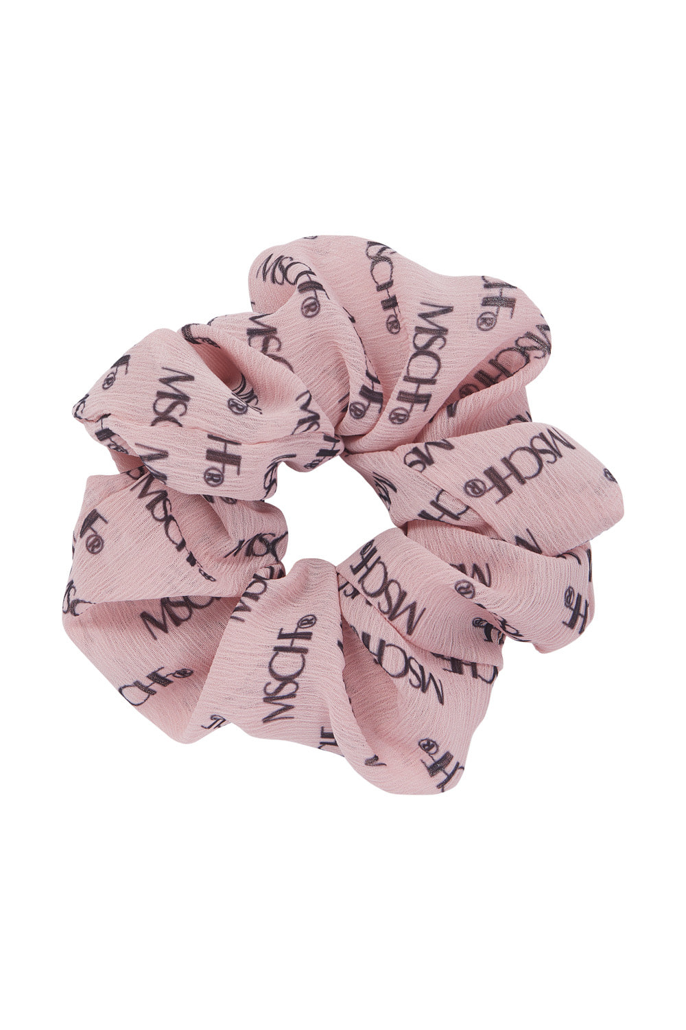 MSCHF REPEAT LOGO SCRUNCHIE_peach