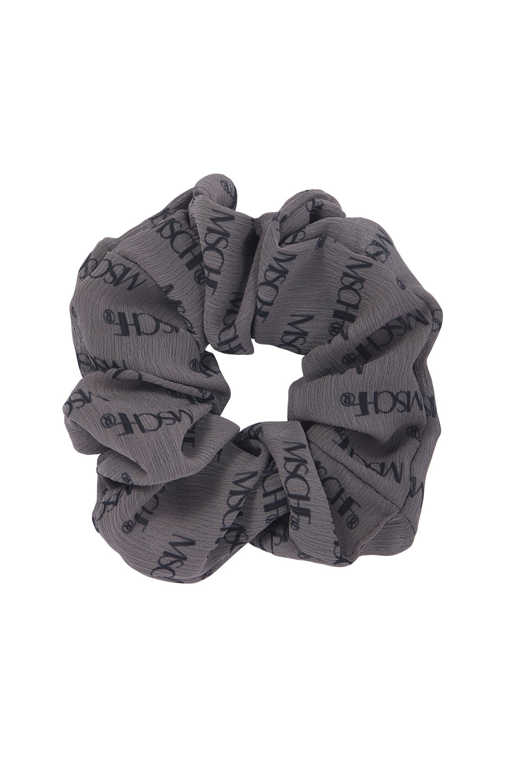 MSCHF REPEAT LOGO SCRUNCHIE_khaki gray