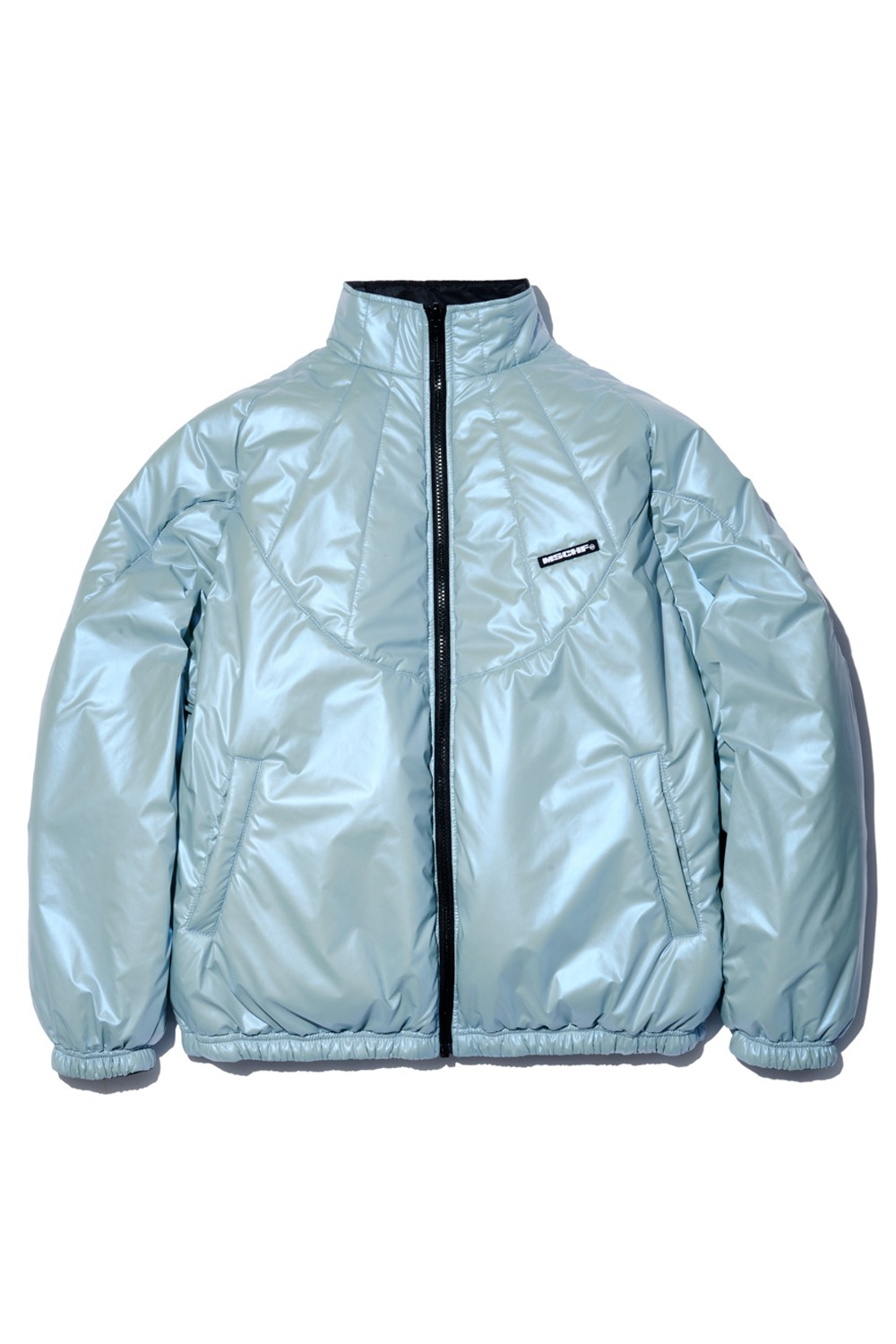MORPHO REVERSIBLE JACKET_iridescent sky blue/iron