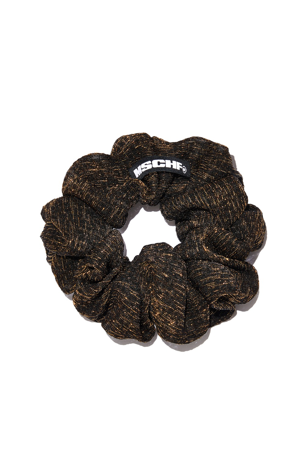 EVENING SCRUNCHIE_goldie black mesh
