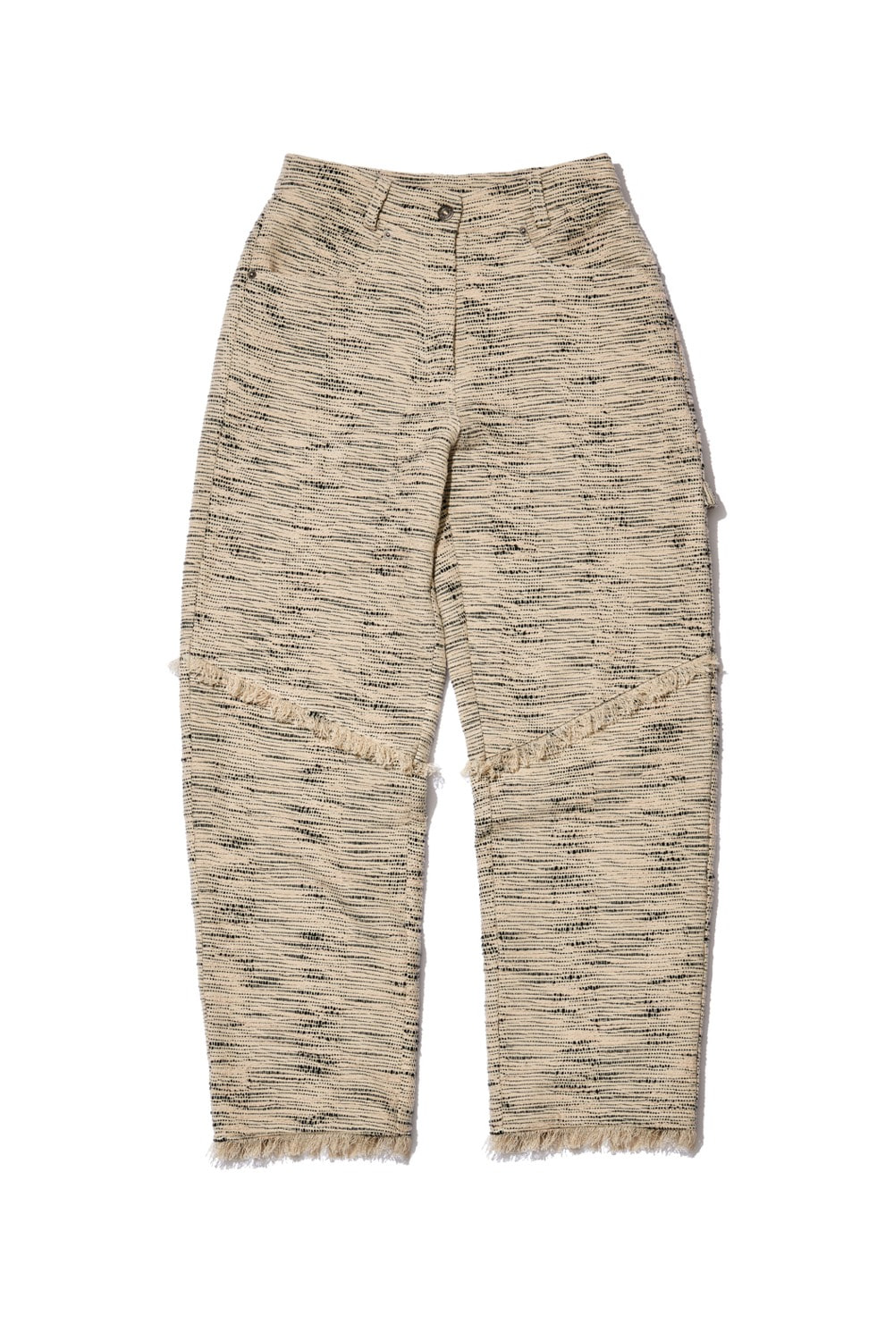 TOUR TWEED ENSEMBLE PANTS_light taupe/black