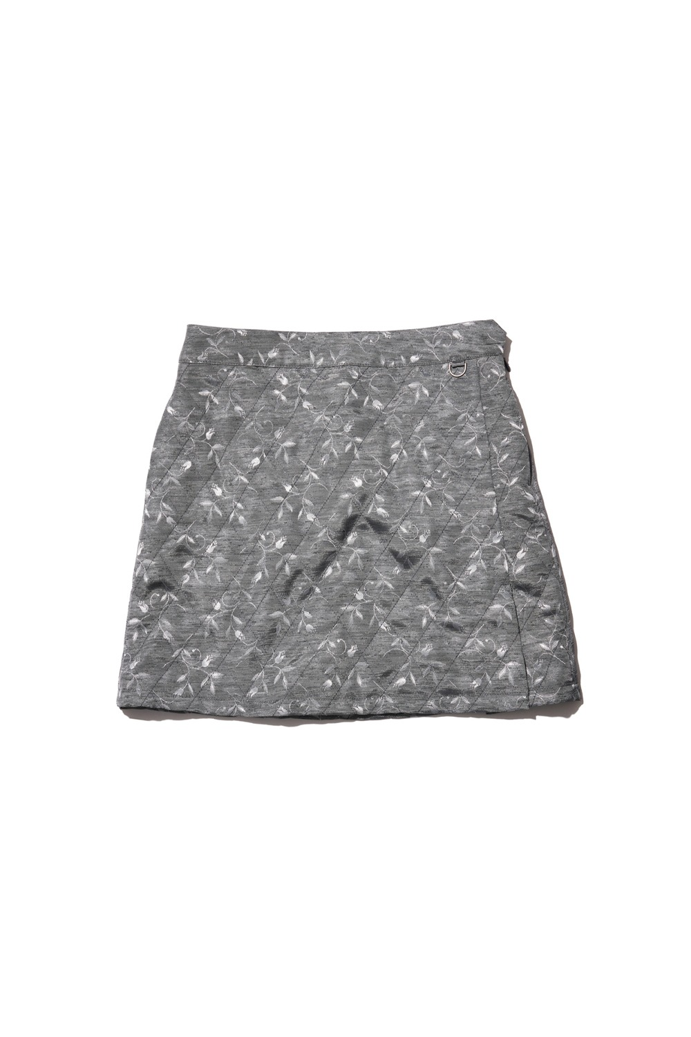 PROJECT MAGO_QUILTED SKIRT_GREY