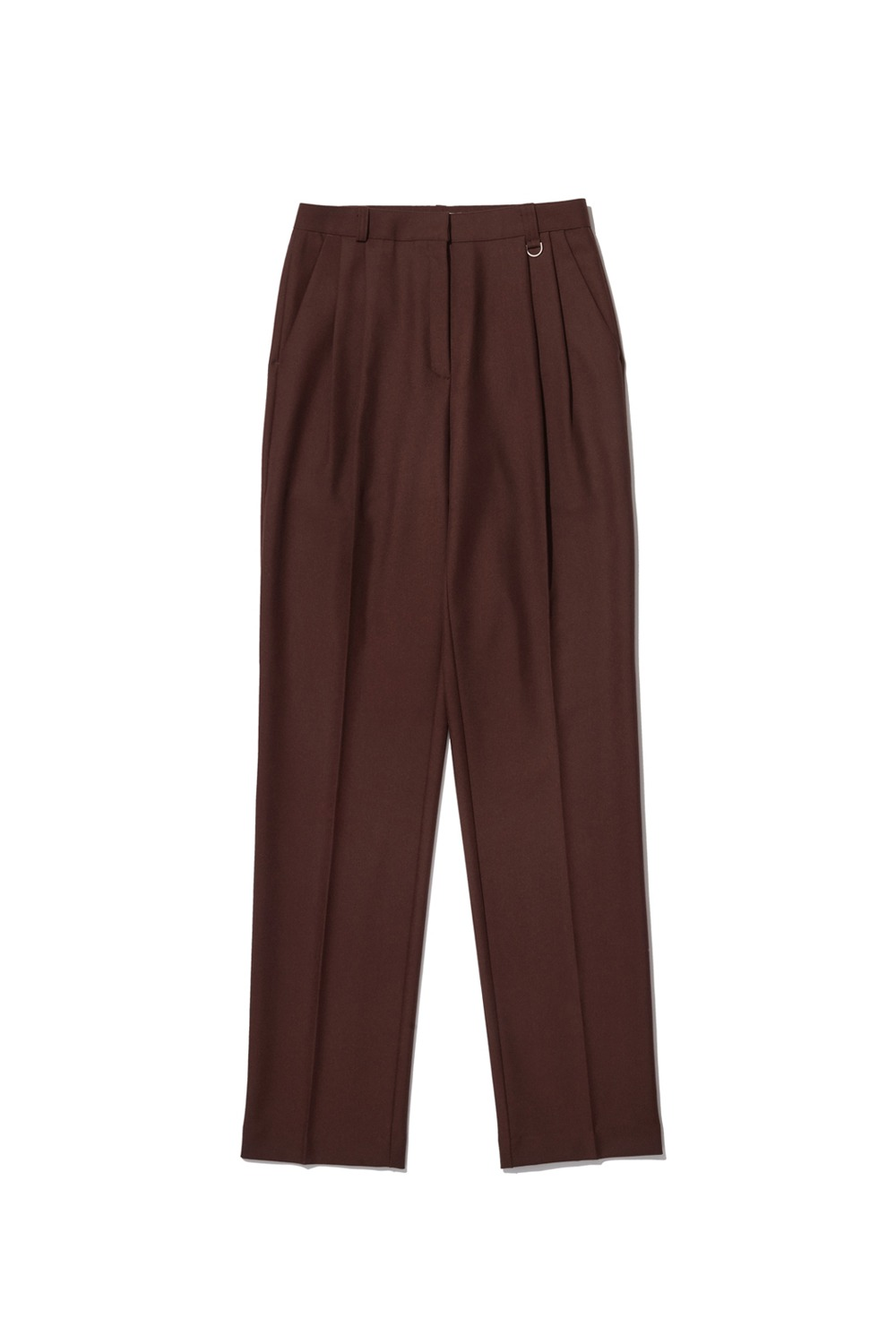 PROJECT MAGO_TAILORED PINTUCK TROUSERS_BROWN
