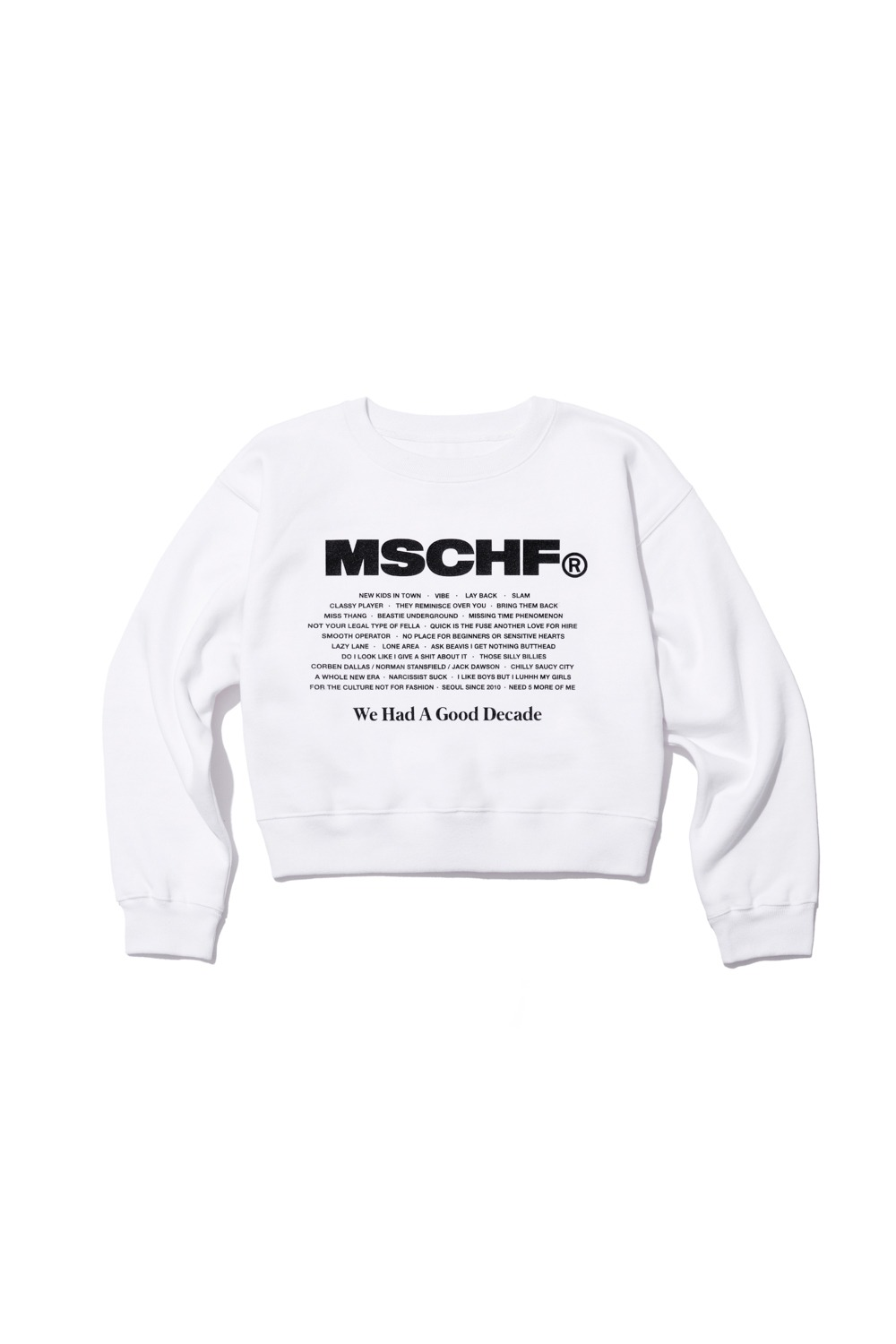WHAGD CREW NECK SWEATSHIRT_white
