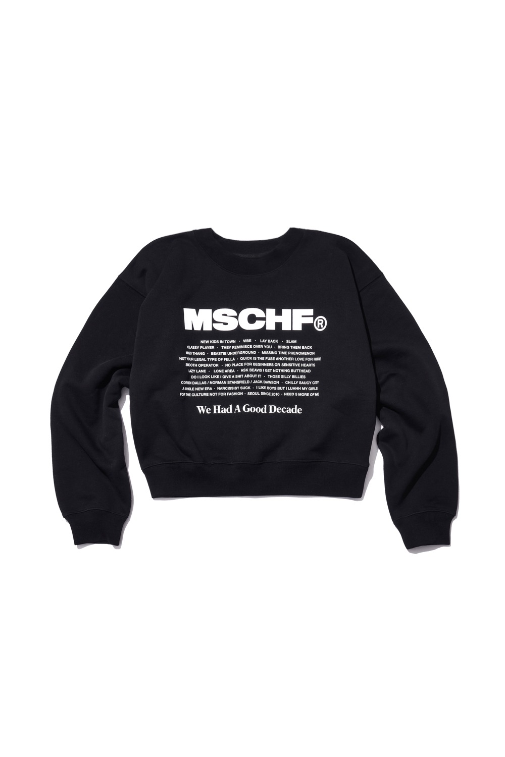 WHAGD CREW NECK SWEATSHIRT_black