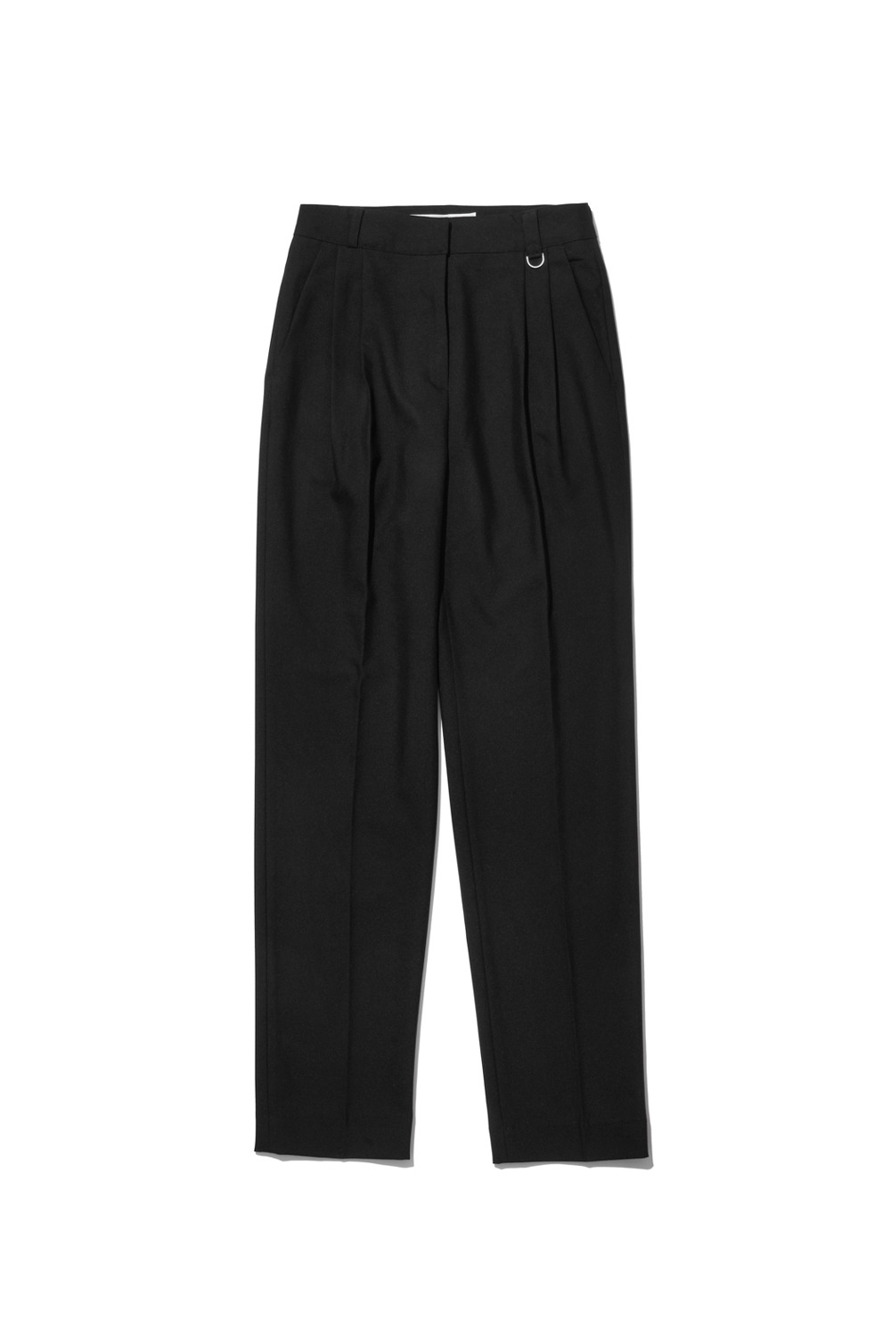 PROJECT MAGO_TAILORED PINTUCK TROUSERS_BLACK